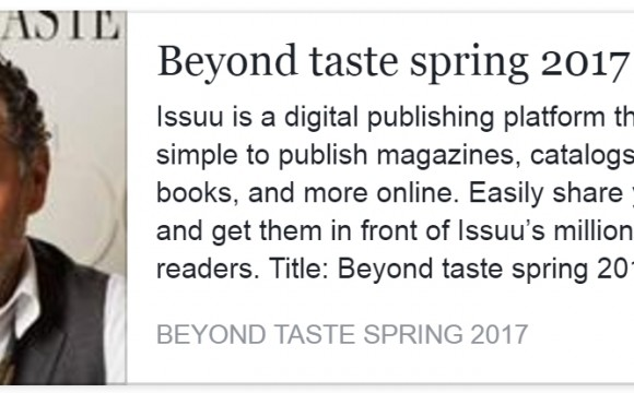 Beyond Taste Spring 2017